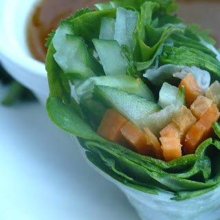 Vietnamese Spring Rolls with Whole30 Friendly Peanut Sauce
