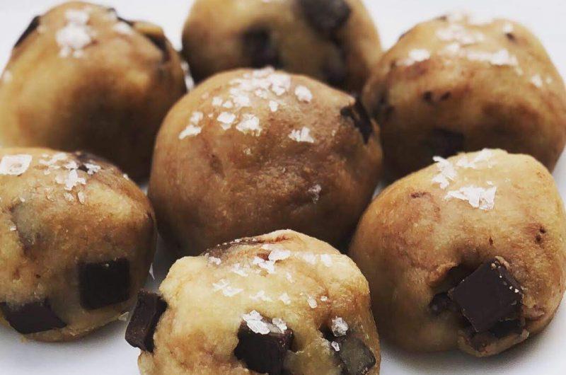 Edible Chocolate Chip Cookie Dough Protein Balls | Grain Free, Egg Free, Paleo, Vegan
