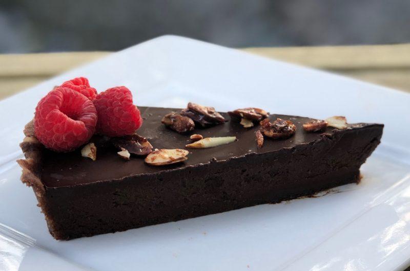 No Bake Chocolate Silk Tart | Vegan and Paleo