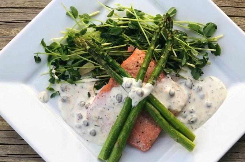 Frozen Salmon Sheet Pan Dinner