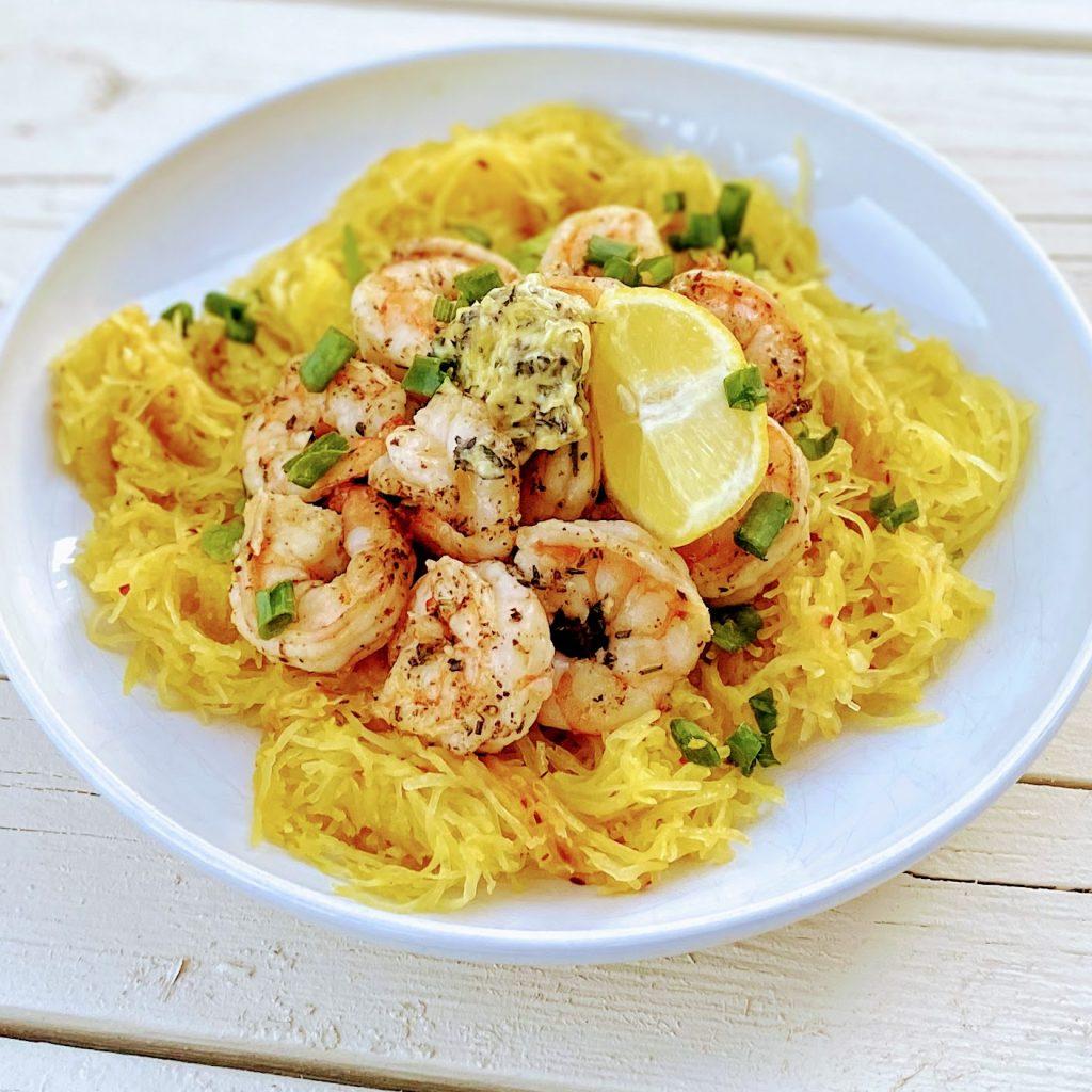 Lemon Herb Shrimp Overhead healthyhappyrealc.om