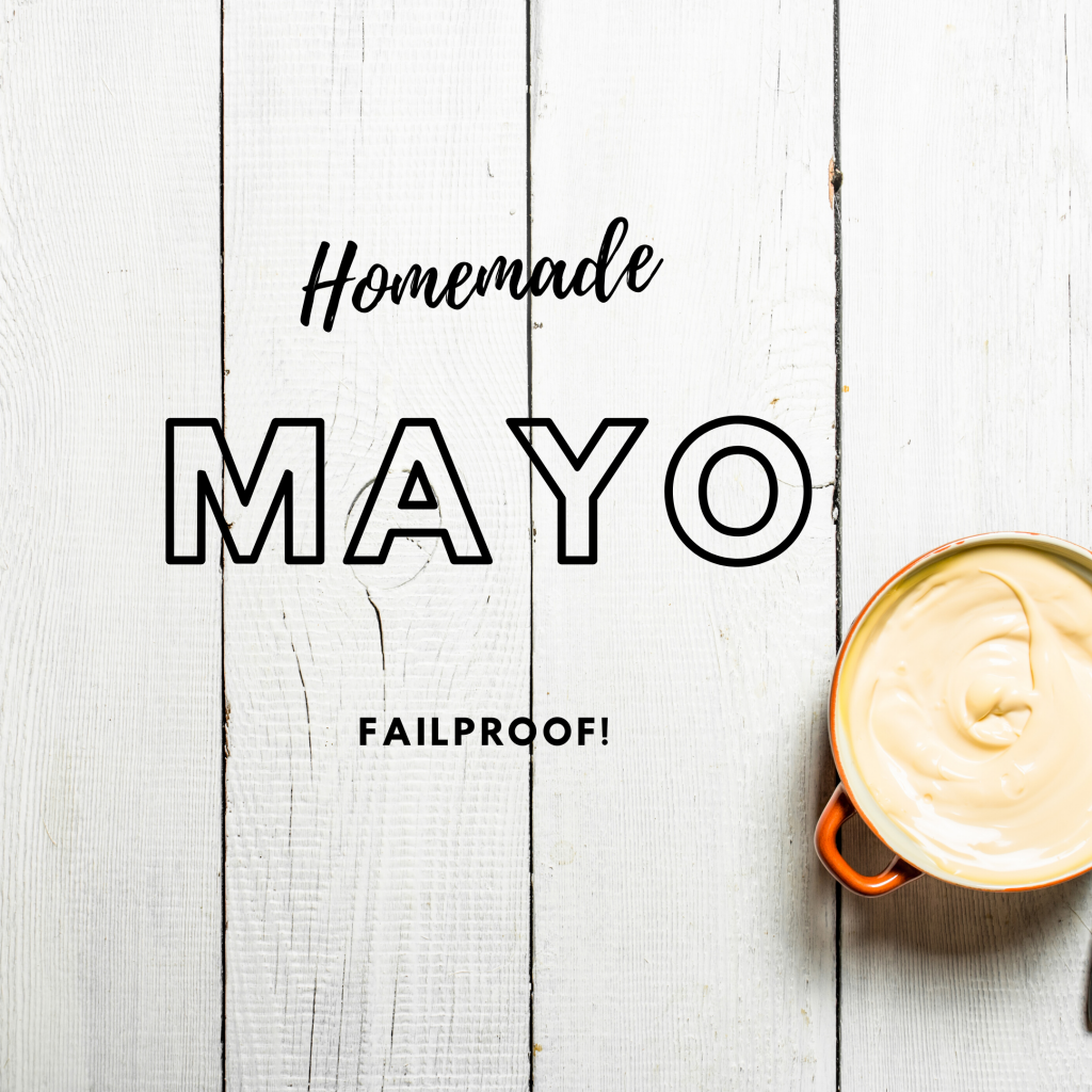 how to make homemade mayonnaise in a food processor