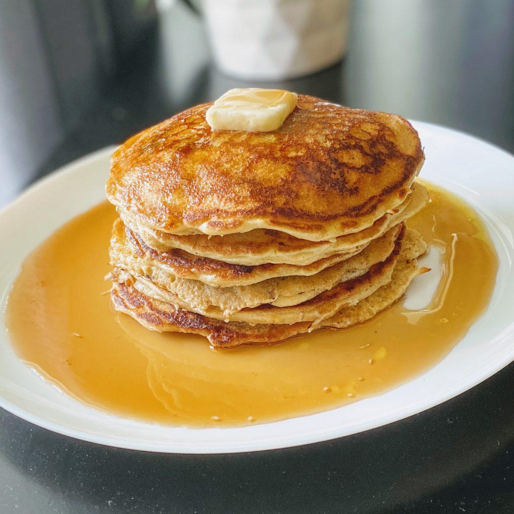 High Protein Almond Flour Pancake Stack