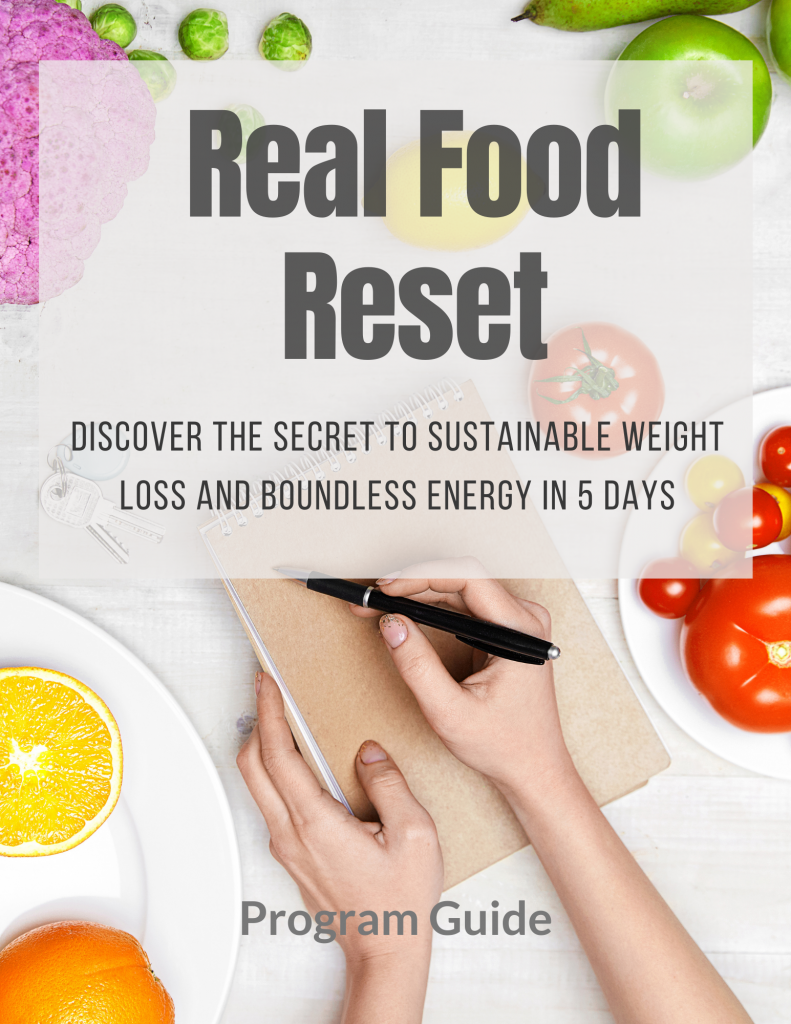 Real Food Reset Cover