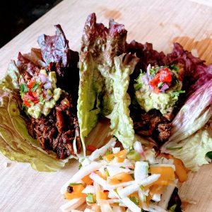 Instant Pot Barbacoa Lettuce Wraps