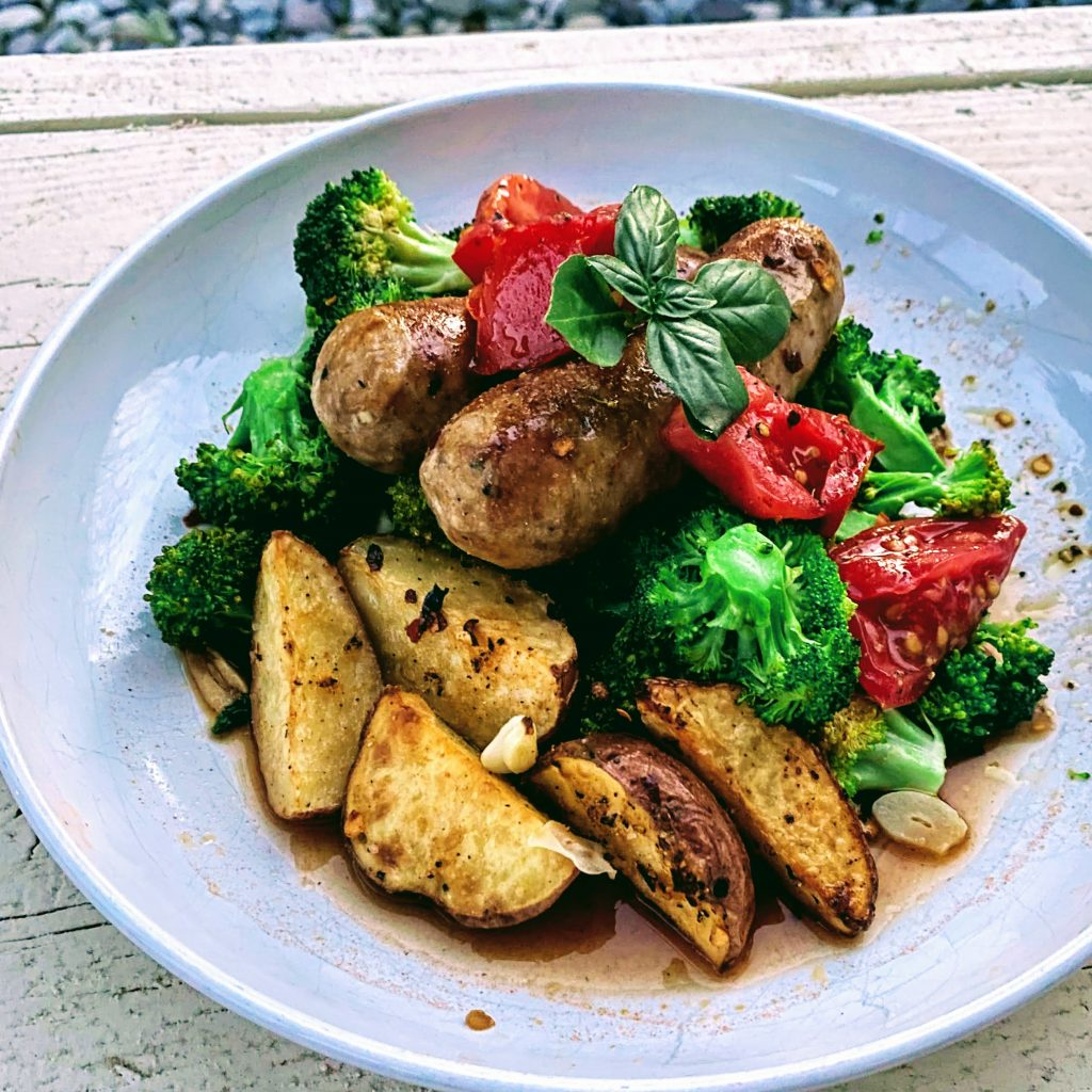 Sausage, Broccoli and Potato Sheet Pan Dinner